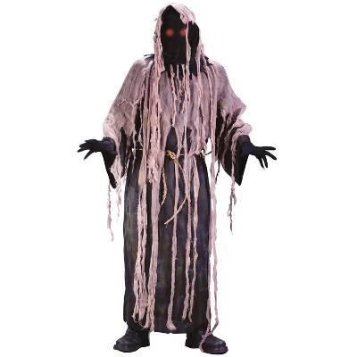 Adult Gauze Zombie with Flashing Eyes Halloween Costume One Size