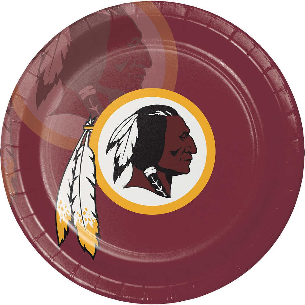8ct Washington Redskins Paper Plates, Multi-Colored