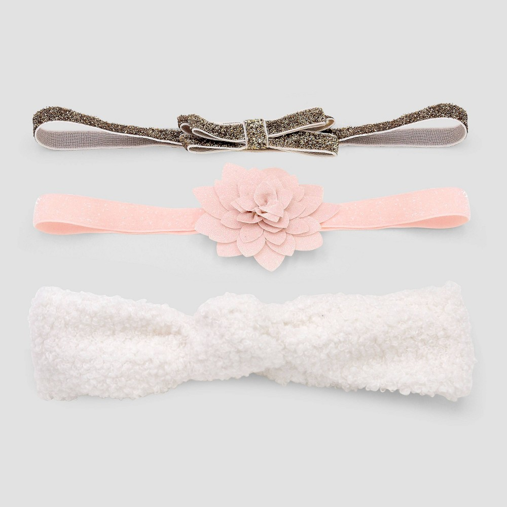 Image of Baby Girls' 3pk Sherpa Headwrap - Just One You made by carter's Newborn