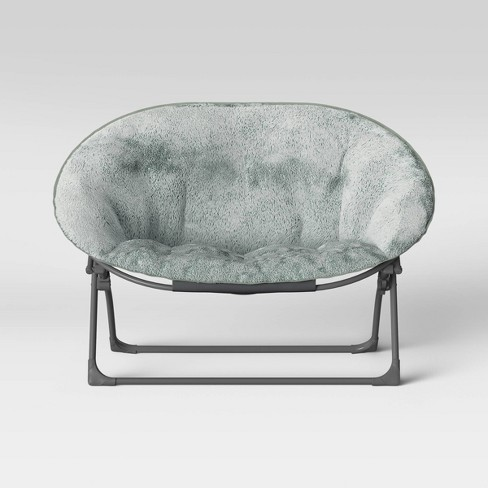 Astonishing Kids Faux Fur Double Dish Chair Gray Pillowfort Forskolin Free Trial Chair Design Images Forskolin Free Trialorg