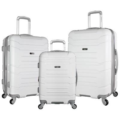 Olympia USA Denmark 3pc Luggage Set - White