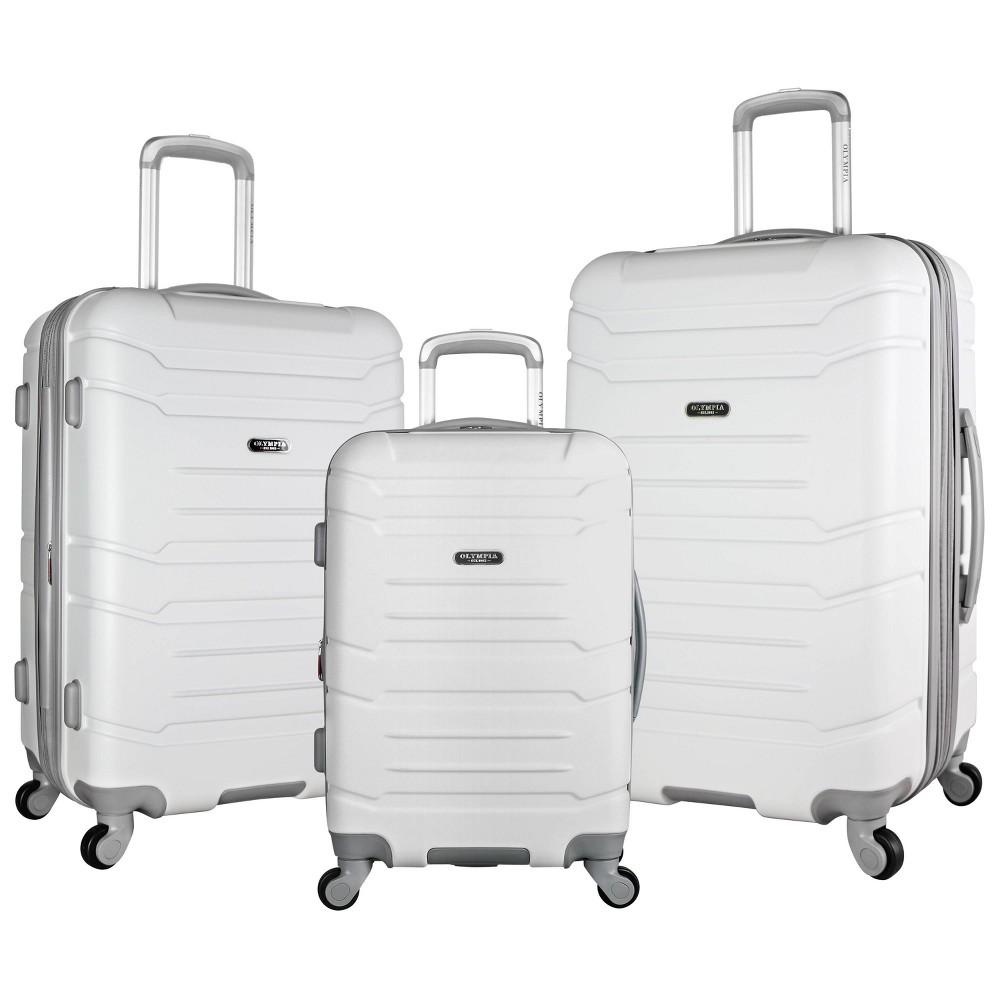 Image of Olympia USA Denmark 3pc Luggage Set - White