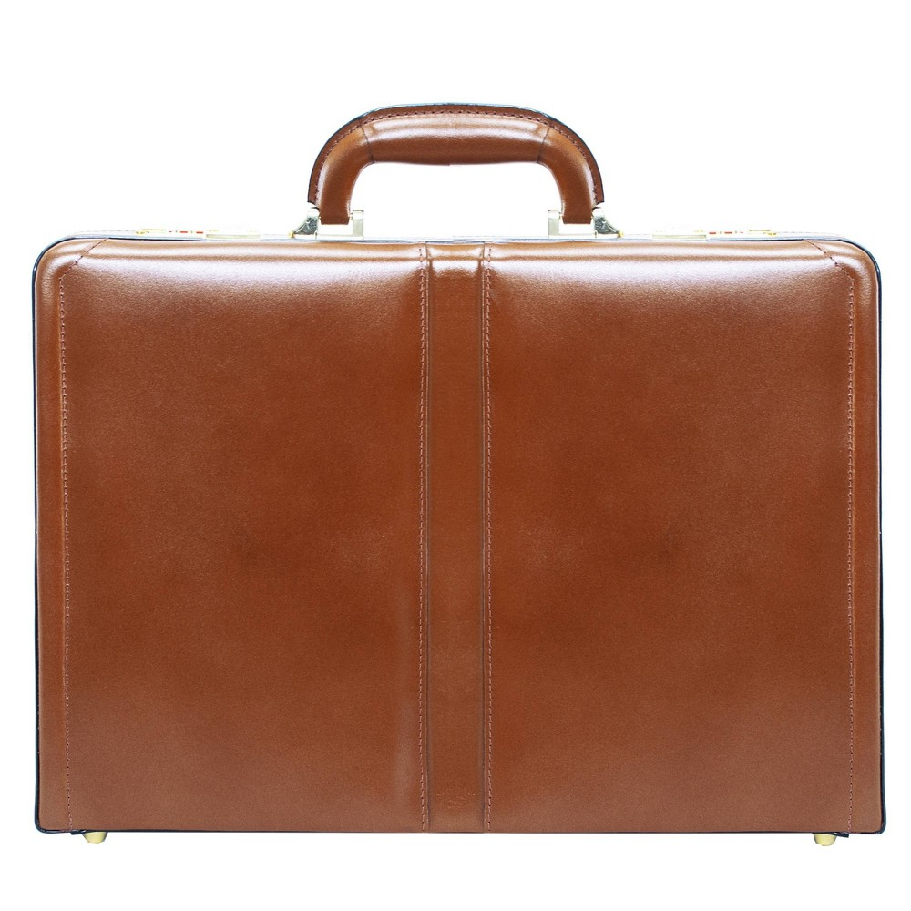 """Image of """"McKlein Harper Leather 4.5"""""""" Expandable Attache Briefcase - Brown"""""""