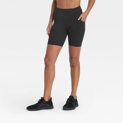 "Women's Sculpted Linear High-Waisted Bike Shorts 7"" - All in Motion™"