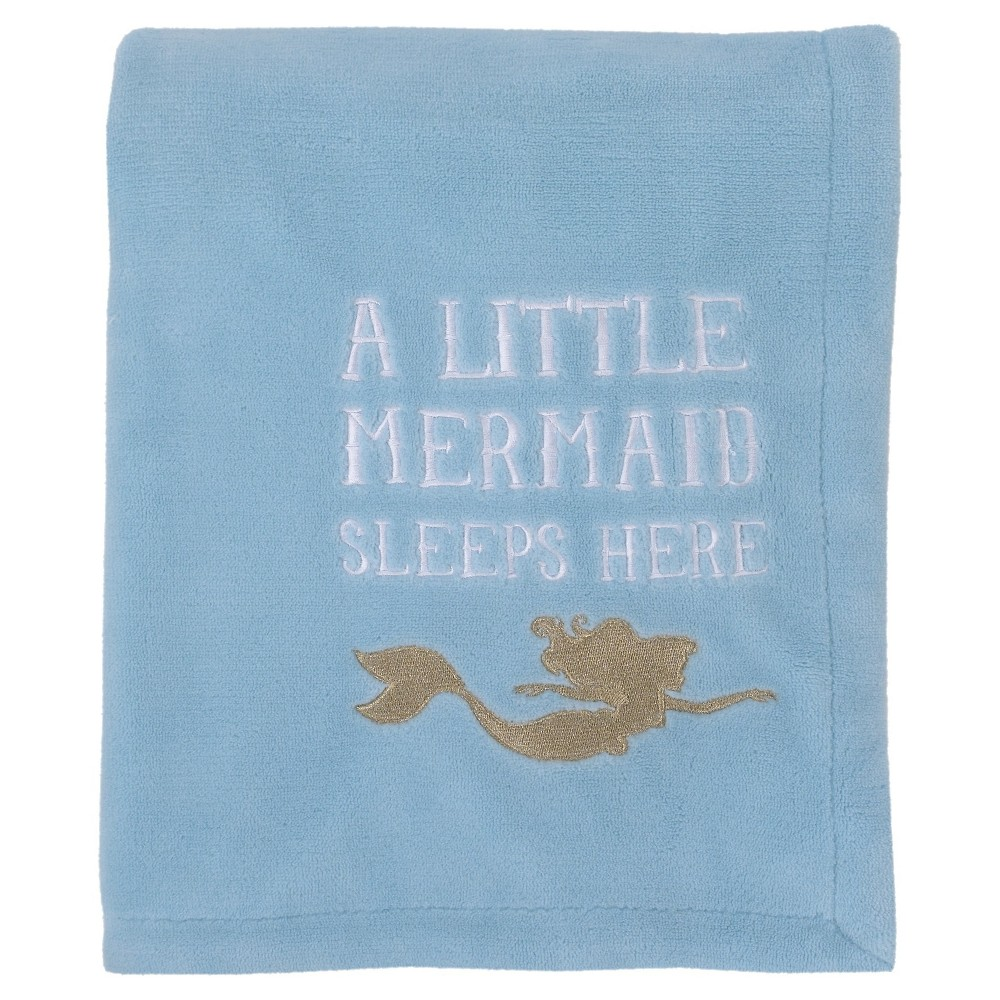 Image of DisneyC Fleece Blanket - Ariel Sea Princess - Coral Blue, Green