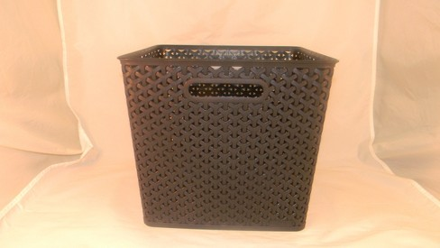 Y Weave Large Storage Bin - Black - Room Essentials™ - image 1 of 1