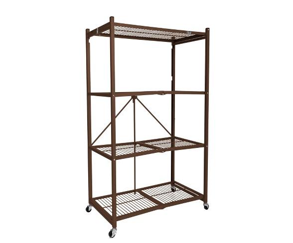 Origami Wood Top Steel Kitchen Organizer 3 Mesh Basket Sliding ... | 488x588
