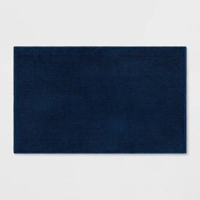 "21""x34"" Bath Mat Dark Blue - Threshold Signature™"