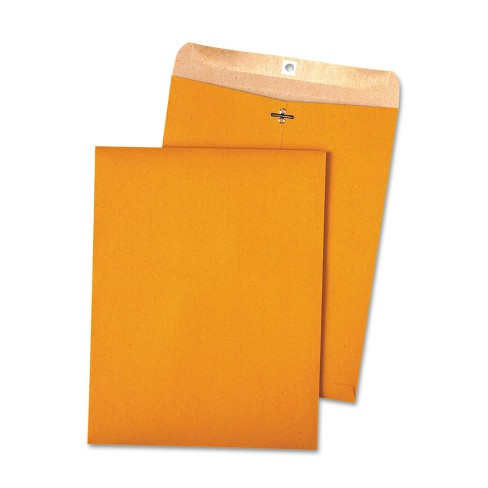 Quality Park 100% Recycled Brown Kraft Clasp Envelope 10 x 13 Brown Kraft 100/Box 38712 - image 1 of 1