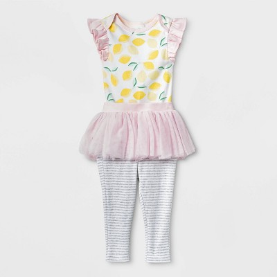 Baby Girls' Oh Honeybee Tutu Set - Cloud Island™ Pink 3-6M