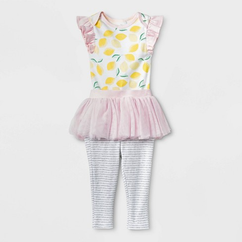 Baby Girls' Oh Honeybee Tutu Set - Cloud Island™ Pink - image 1 of 2
