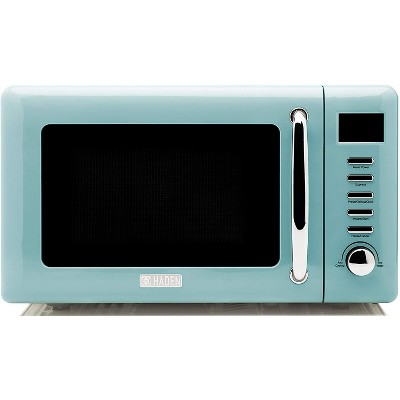 Haden 75031 Heritage Vintage Retro 0.7 Cubic Foot/20 Liter 700 Watt Countertop Microwave Oven Kitchen Appliance with Turntable, Turquoise Blue