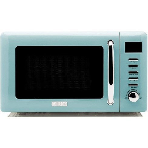 Haden 75031 Heritage Vintage Retro 0.7 Cubic Foot/20 Liter 700 Watt Countertop Microwave Oven Kitchen Appliance with Turntable, Turquoise Blue - image 1 of 4