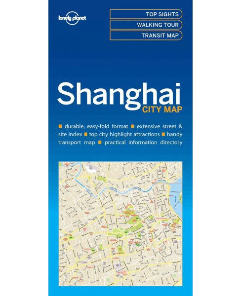 Lonely Planet Shanghai city Map (Paperback) - image 1 of 1