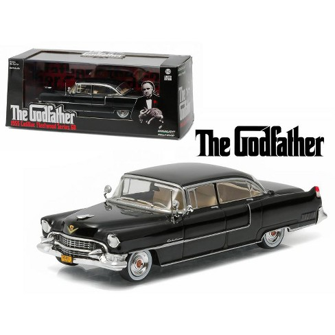 """1955 Cadillac Fleetwood Series 60 Special Black """"The Godfather"""" (1972) Movie 1/43 Diecast Model Car by Greenlight - image 1 of 1"""