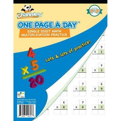 Channie's One Page A Day Single Digit Multiplication
