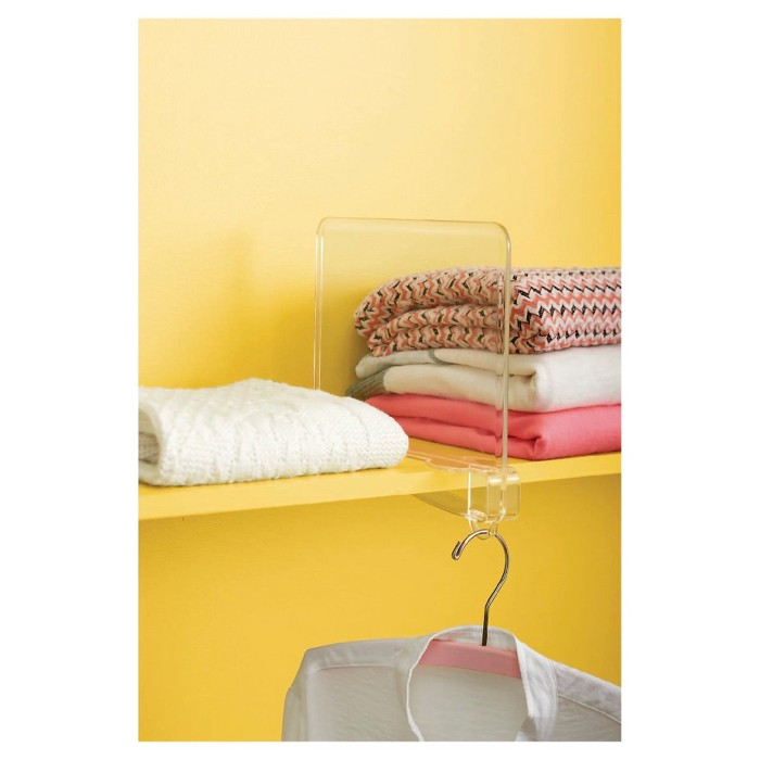 Storage Shelf Dividers Clear - Room Essentials™ - image 1 of 1
