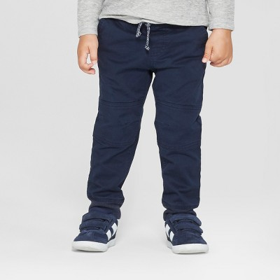 Toddler Boys' Reinforced Knee Jogger Fit Pull-On Pants - Cat & Jack™ Blue 18M