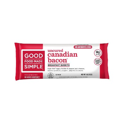 Good Food Made Simple Eggs, Cheese & Canadian Bacon Frozen Breakfast Burrito - 5oz
