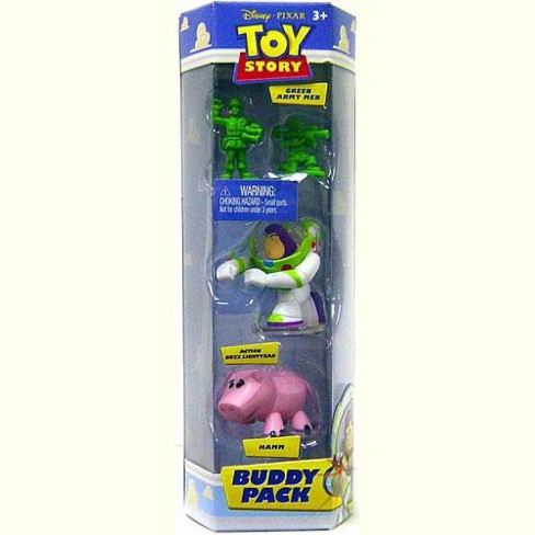 Toy Story Buddy Pack Green Army Men, Action Buzz Lightyear and Hamm Mini Figure 3-Pack - image 1 of 1