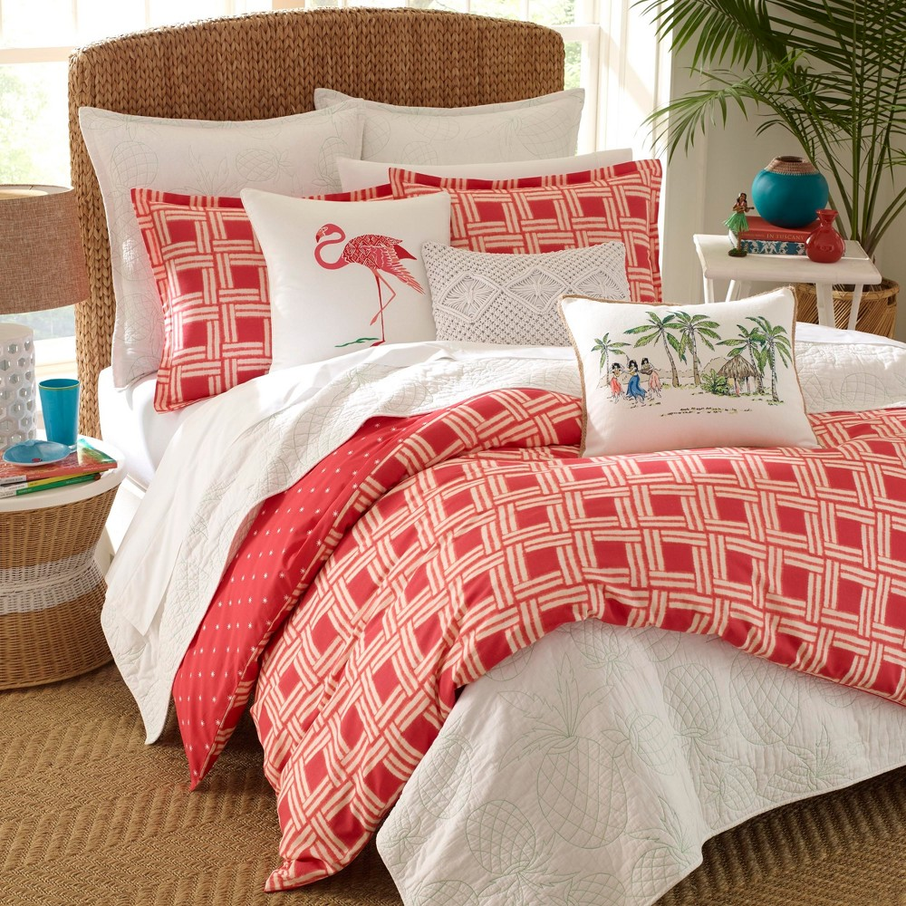 Image of Red Sunrise Duvet Cover Set (Full/Queen) - Nine Palms