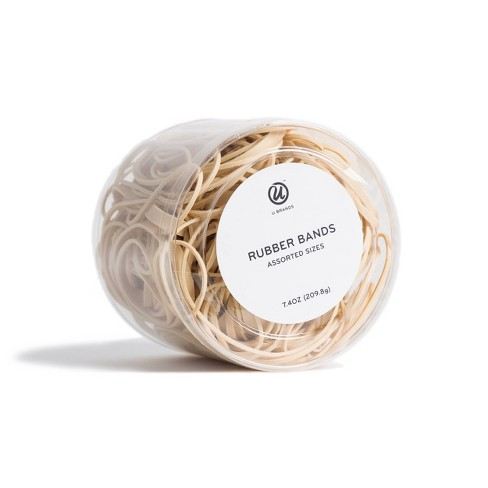 U Brands 7.4oz Rubber Bands Assorted Sizes - image 1 of 3