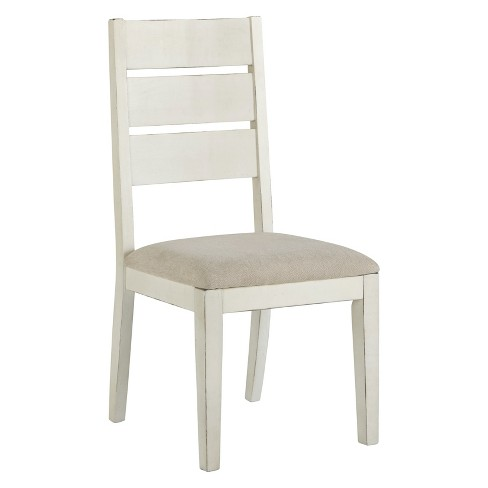 Set of 2 Grindleburg Dining Upholstered Ladderback Side Chair White/Light Brown - Signature Design by Ashley - image 1 of 4
