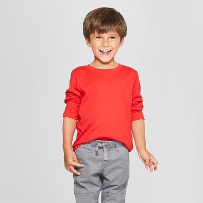 Toddler Boys' Long Sleeve T-Shirt - Cat & Jack™ Red 12M