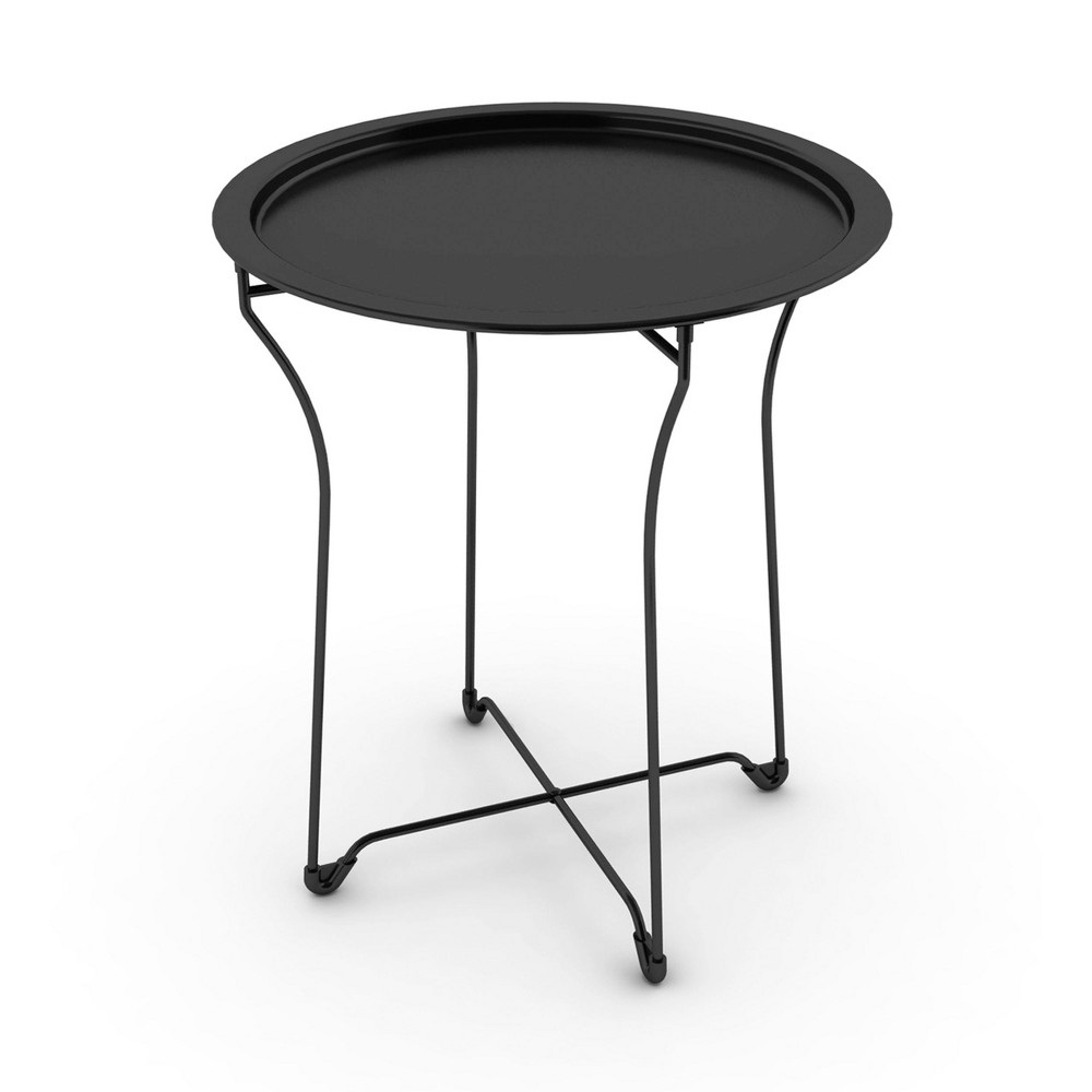 Reviews End Table Metal Black - Atlantic