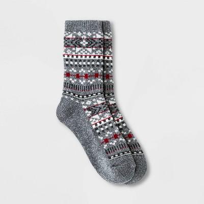 Warm Essentials by Cuddl Duds Women's Geo Fair Isle Crew Socks - 4-10