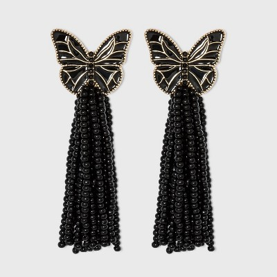 SUGARFIX by BaubleBar Butterfly Tassel Drop Earrings