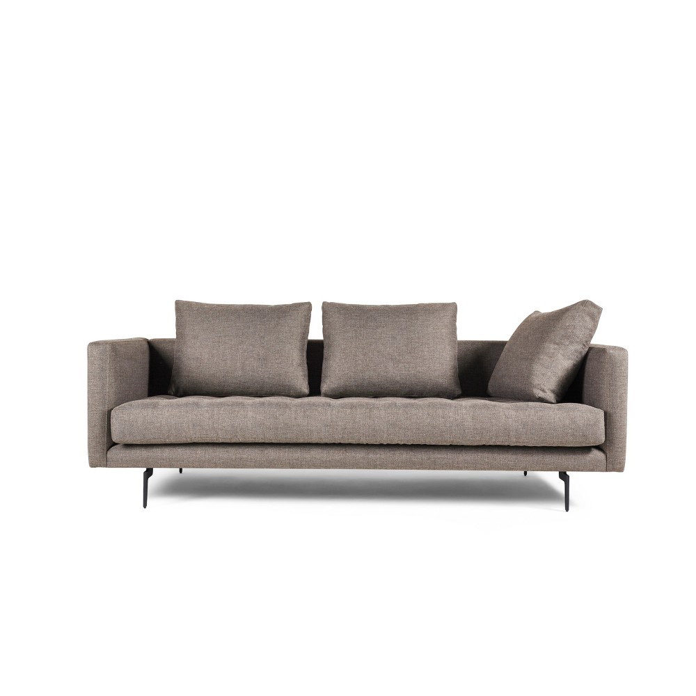 Granville 3 Seat Tweed Sofa Beige - Manhattan Comfort