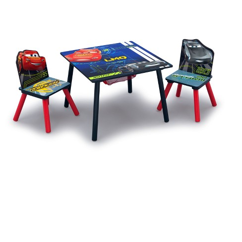 Disney Pixar Cars Table Chair Set With Storage