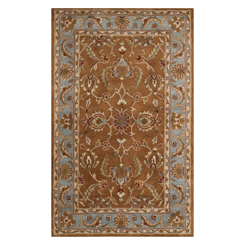 11'X16' Floral Area Rug Brown/Blue - Safavieh