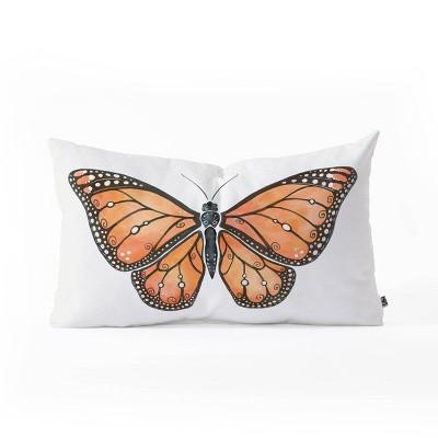 """23""""x14"""" Avenie Monarch Butterfly Lumbar Throw Pillow - Deny Designs"""