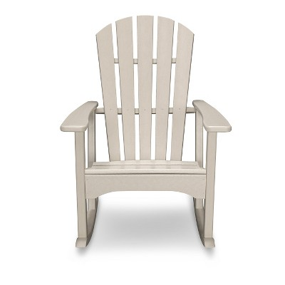 POLYWOOD® St Croix Sand Patio Adirondack Rocker - Exclusively At Target