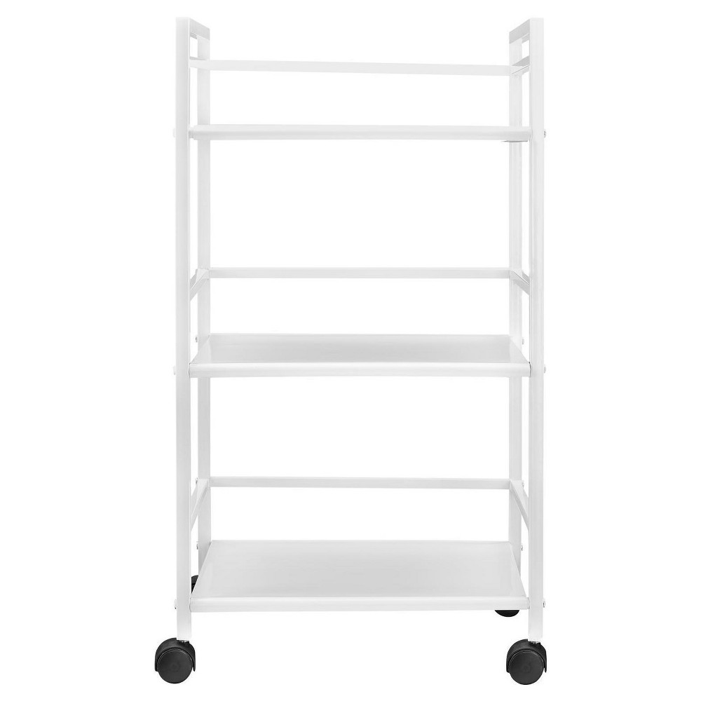 Trinity 3 Shelf Metal Rolling Utility Cart - White - Room & Joy
