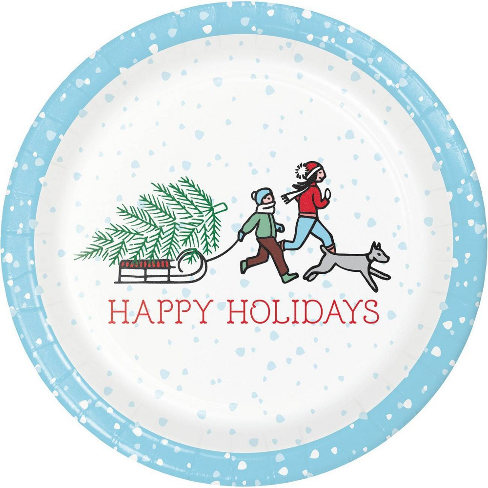 Image of 24ct Home for the Holidays Dessert Plates