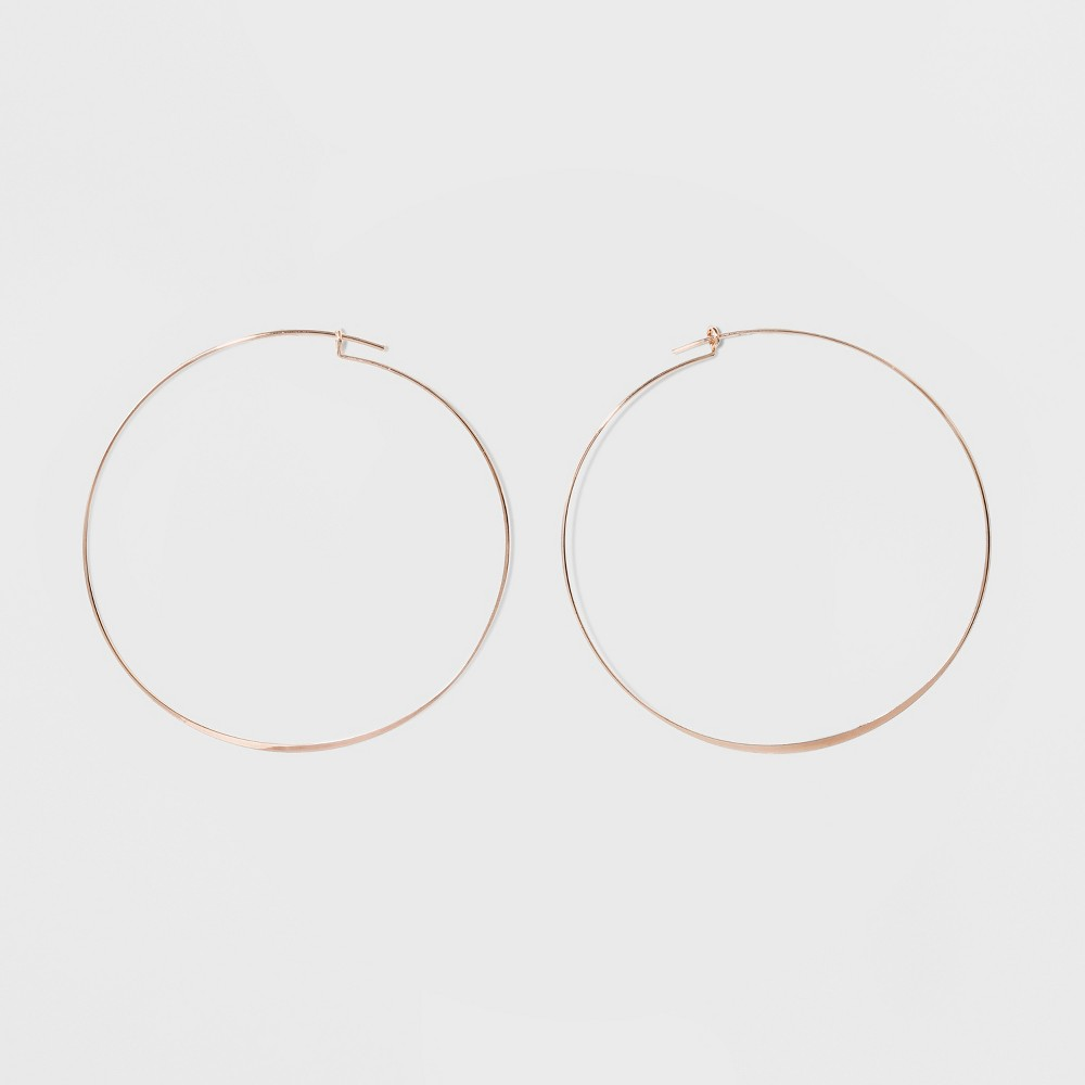 Large Flat Hoop Earrings - A New Day Rose Gold