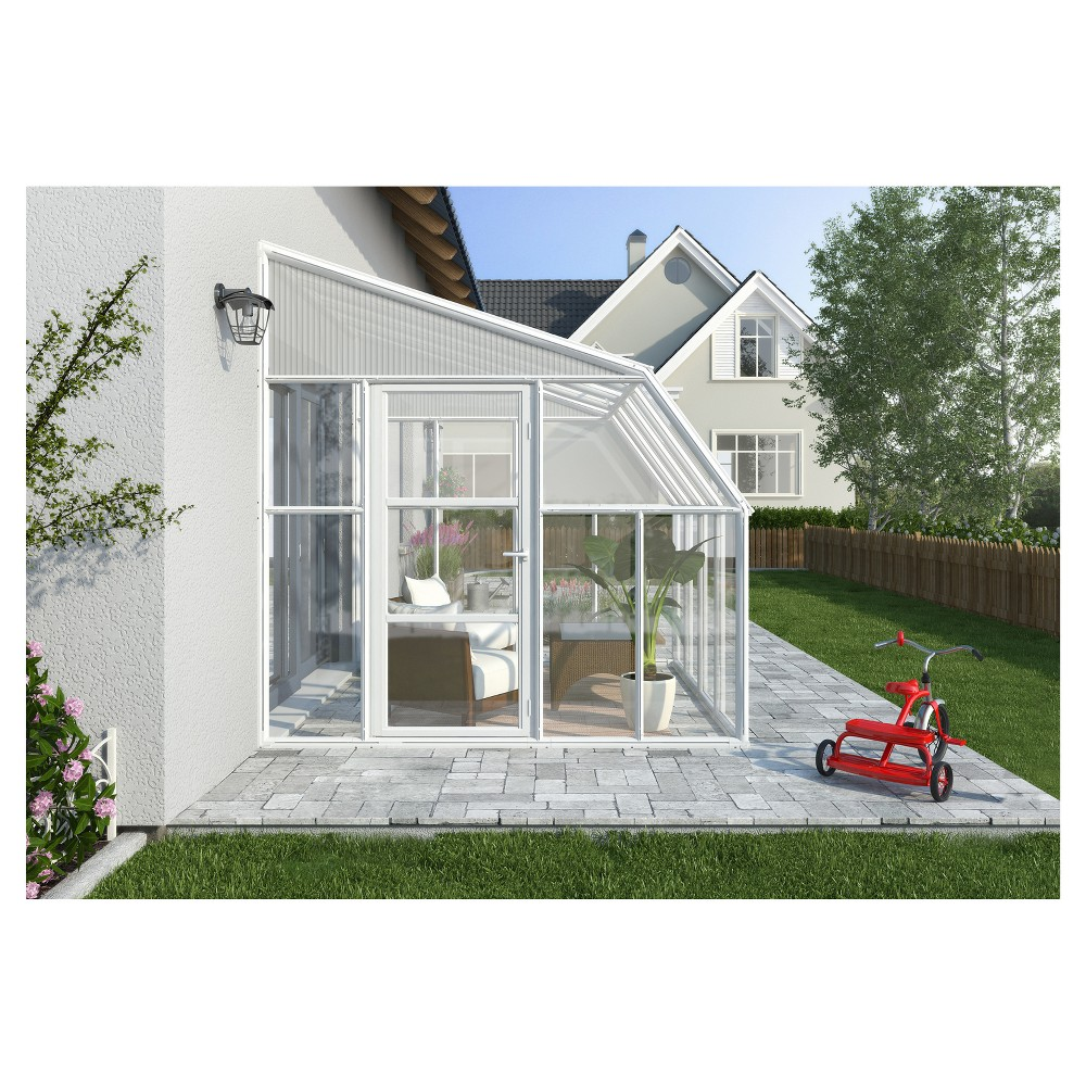 Image of 8'X16' Sun Room 2 Greenhouse - White - Palram