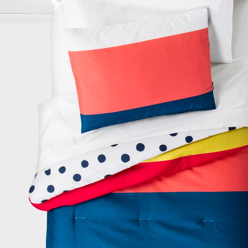 Toddler Multi Stripe Reversible Comforter - Pillowfort, Multicolored