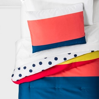Twin Multi Stripe Reversible Comforter - Pillowfort™