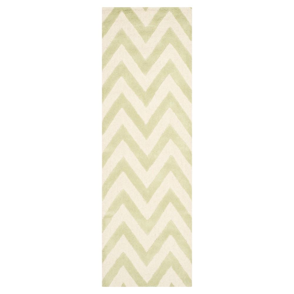 Dalton Textured Rug - Light Green / Ivory (2'6 X 10') - Safavieh, Light Green/Ivory
