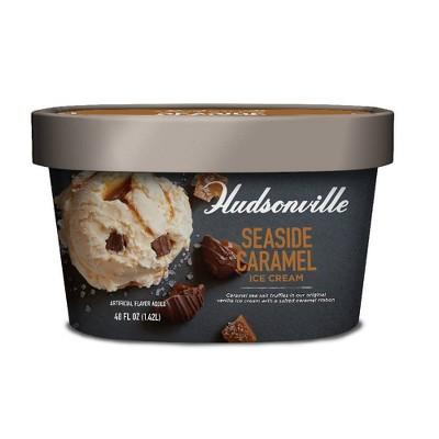 Hudsonville Sea Side Caramel Ice Cream - 48oz