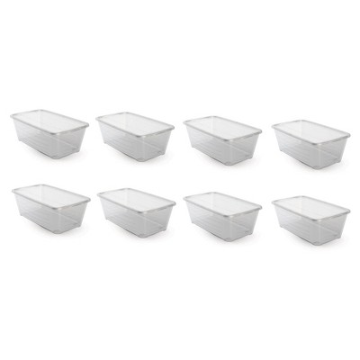 Life Story 6Q Rectangular Clear Plastic Protective Storage Shoe Box (8 Pack)