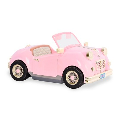 """Our Generation In the Driver Seat Retro Cruiser - Pink Convertible for 18"""" Dolls"""