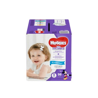 Huggies Little Movers Diapers - Size 5 (96ct)
