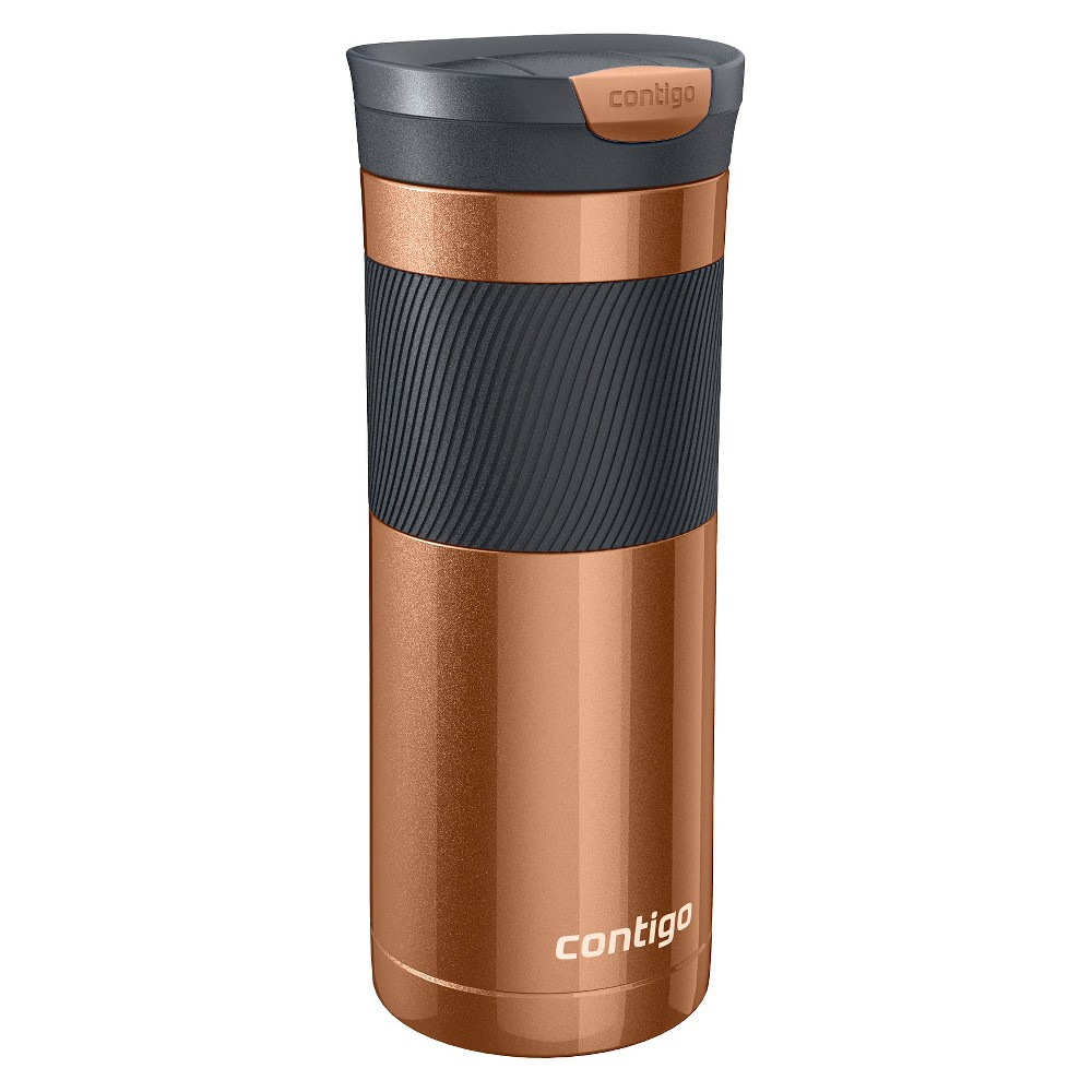 Image of Contigo 20oz Stainless Steel SNAPSEAL Byron Travel Mug Copper, Brown