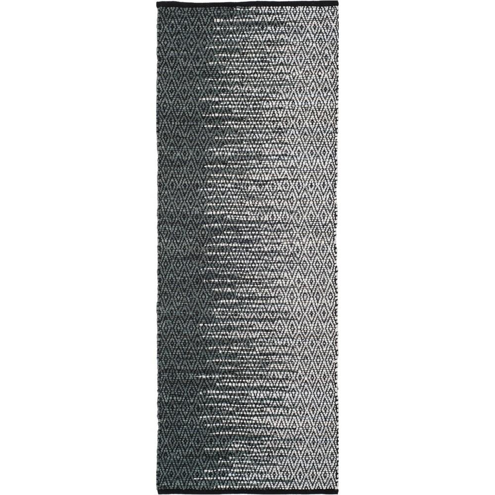 2'3X6' Geometric Woven Runner Light Gray/Charcoal (Light Gray/Grey) - Safavieh
