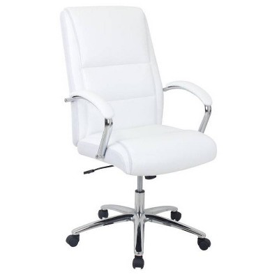 Bonded Leather Executive Chair Ice White - Global Furniture